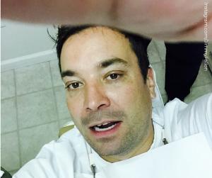 Fallon thanks his DDS for fixing his tooth after cap mishap. This dental mishap helps solidify his PR DDS.