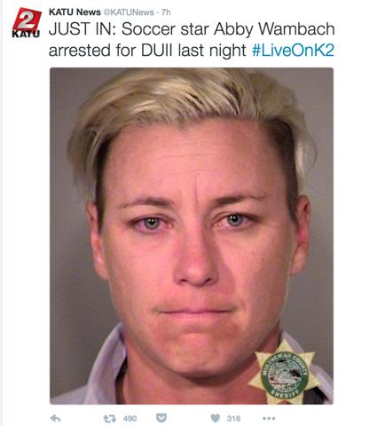 Wambach arrest