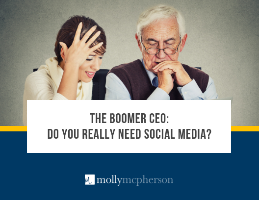 baby boomer ceo social media