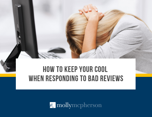 How to keep your cool when responding to bad reviews