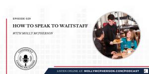 how to speak to waitstaff