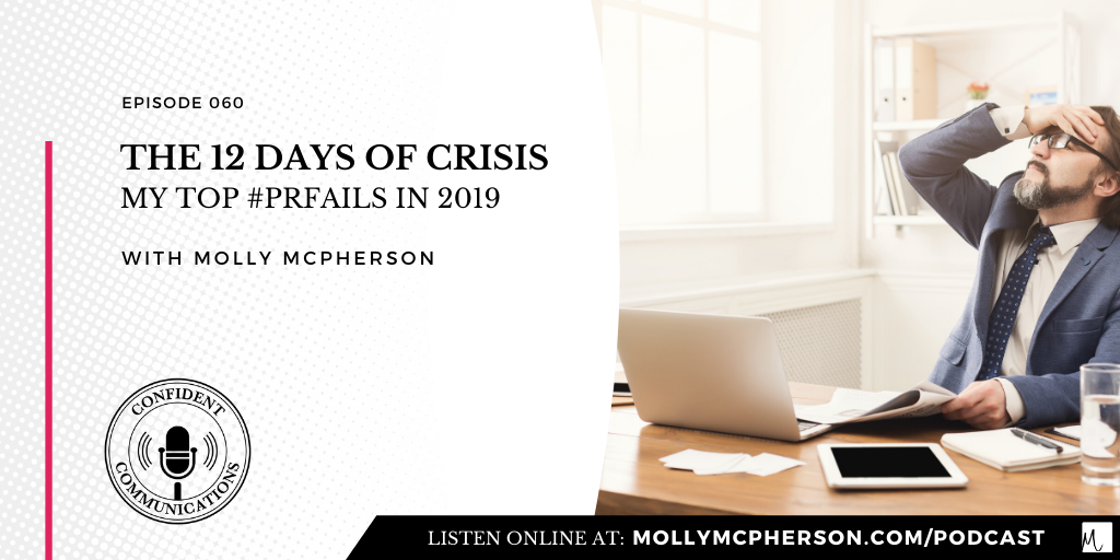 The 12 Days of Crisis: My Top #PRFails in 2019