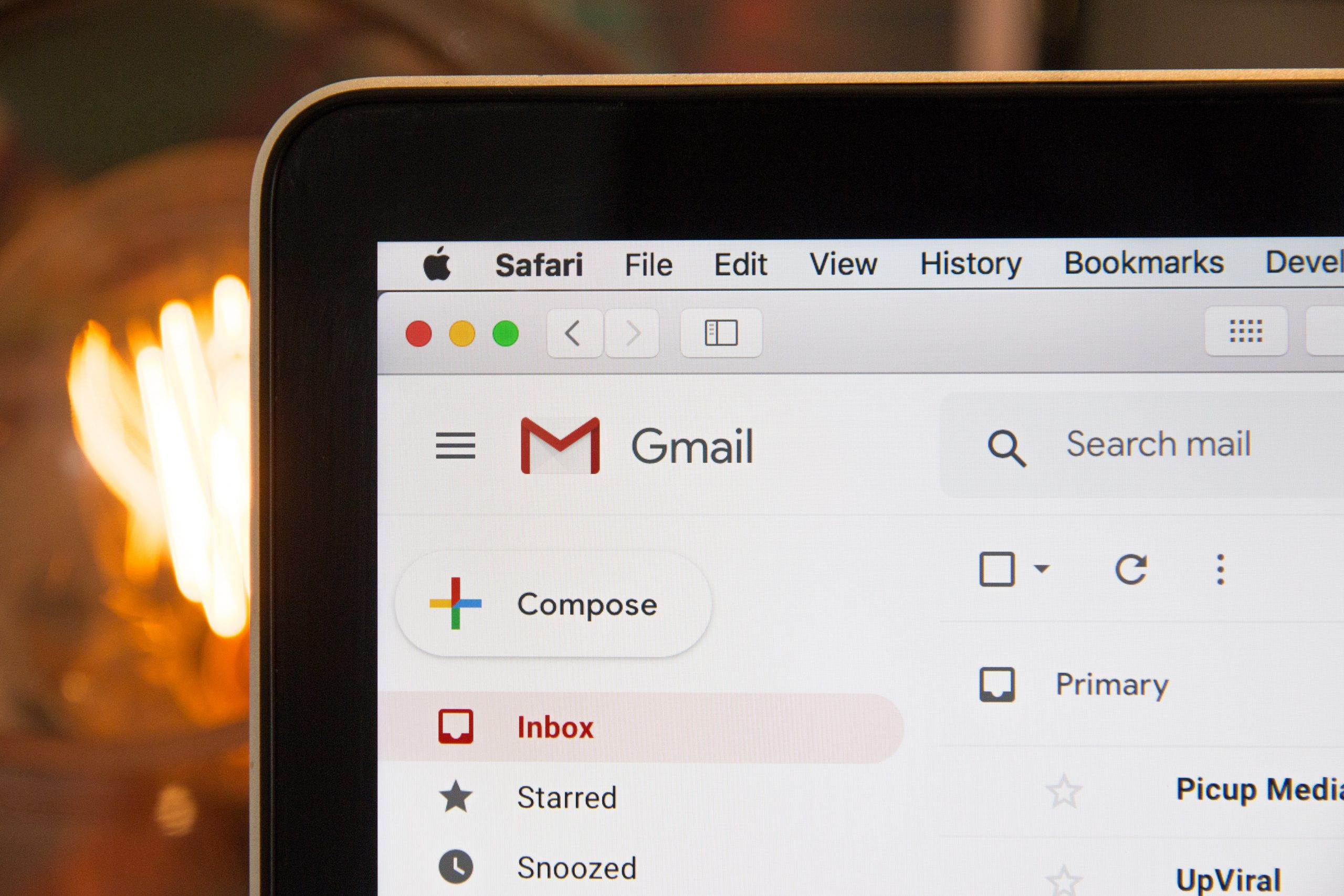 Google email on laptop