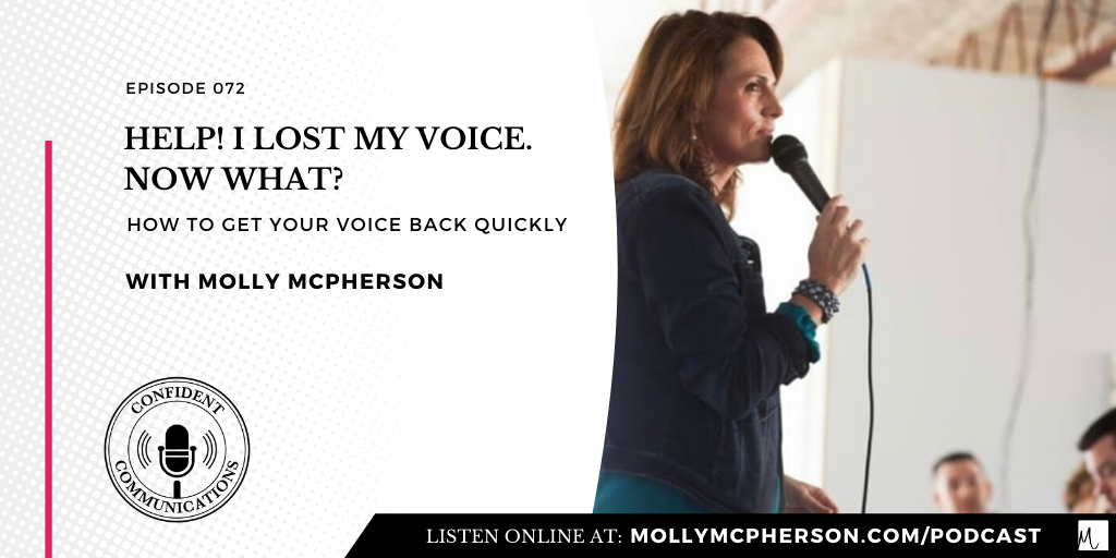 Help! I lost my voice. Now what?