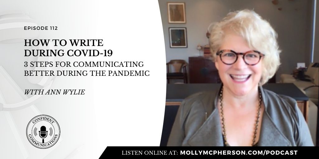 112: How to Write During COVID-19 with Ann Wylie