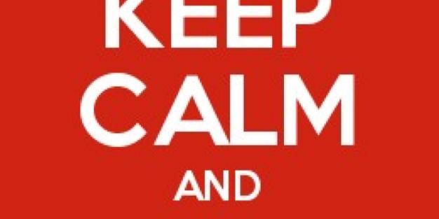 keep calm hashtag on